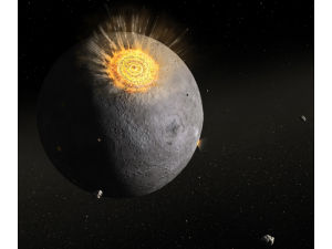 Осколки на Луне свидетельствуют о древней астероидной бомбардировке