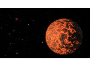 Открыта экзопланета покрытая раскалённой магмой