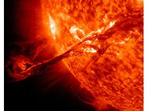 STEREO снял на видео гигантский солнечный протуберанец