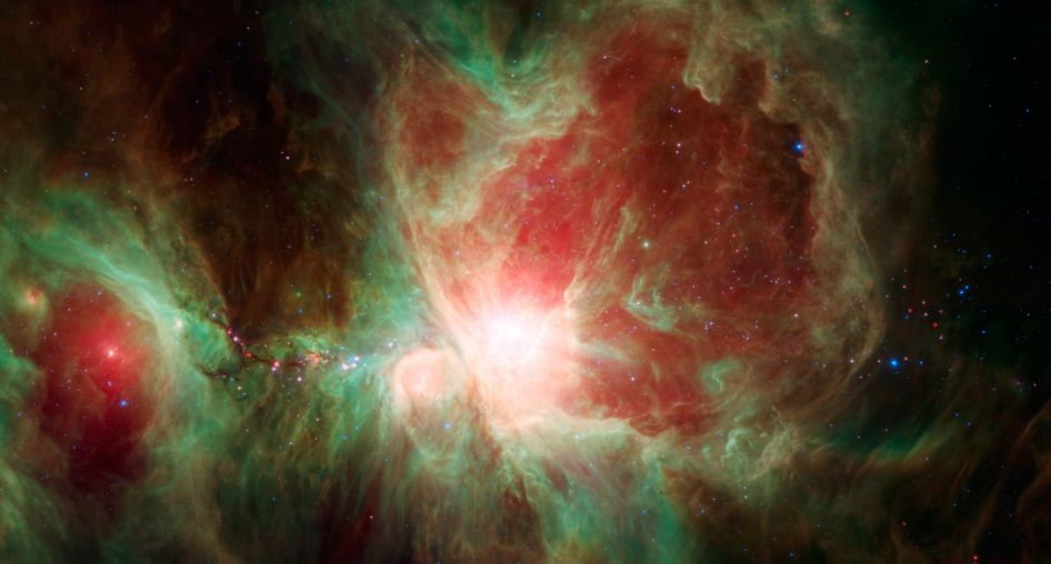Туманность Ориона глазами телескопа Spitzer