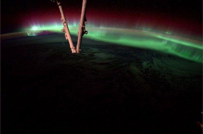 Снимок северного сияния сделал астронавт МКС (2 фото)