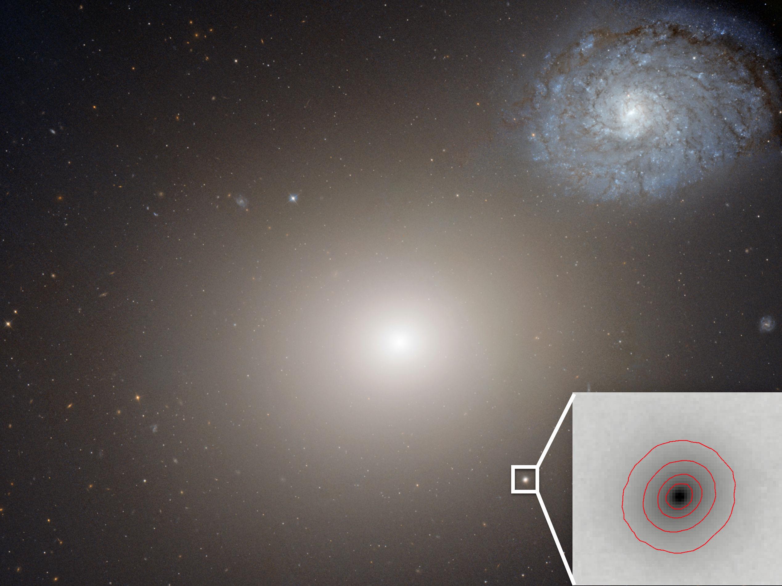 Самую маленькую галактику со сверхмассивной черной дырой помог обнаружить Хаббл