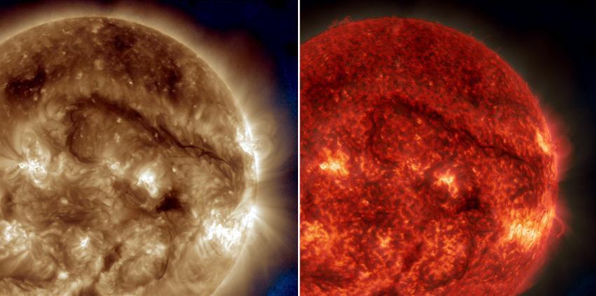 На Солнце астрономы наблюдали гигантское волокно