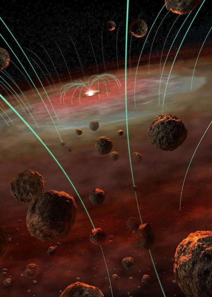 Магнитные поля в зернах метеорита могут рассказать о рождении Солнечной системы
