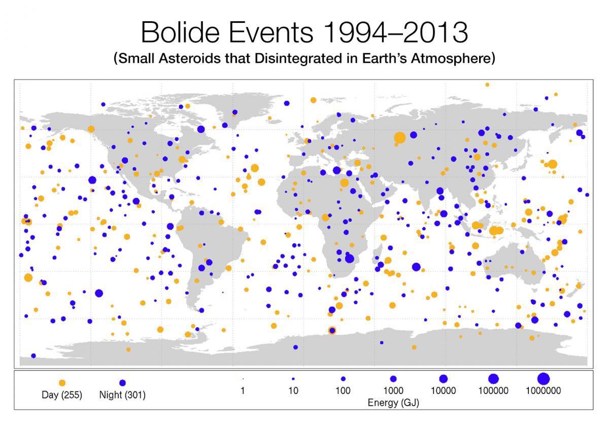 Опубликована новая карта активности астероидов