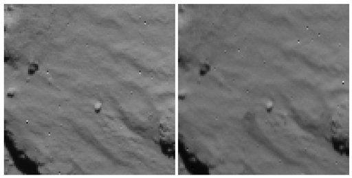 Опубликован снимок места первичного касания поверхности кометы