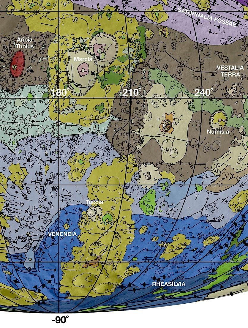 Геологическое картирование Весты рассказывает о больших импактных событиях