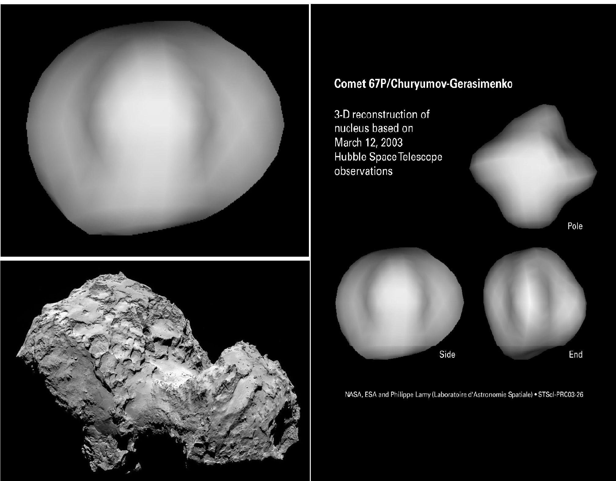 Комета 67P/Чурюмова-Герасименко в глазах телескопа Хаббл десятилетие назад