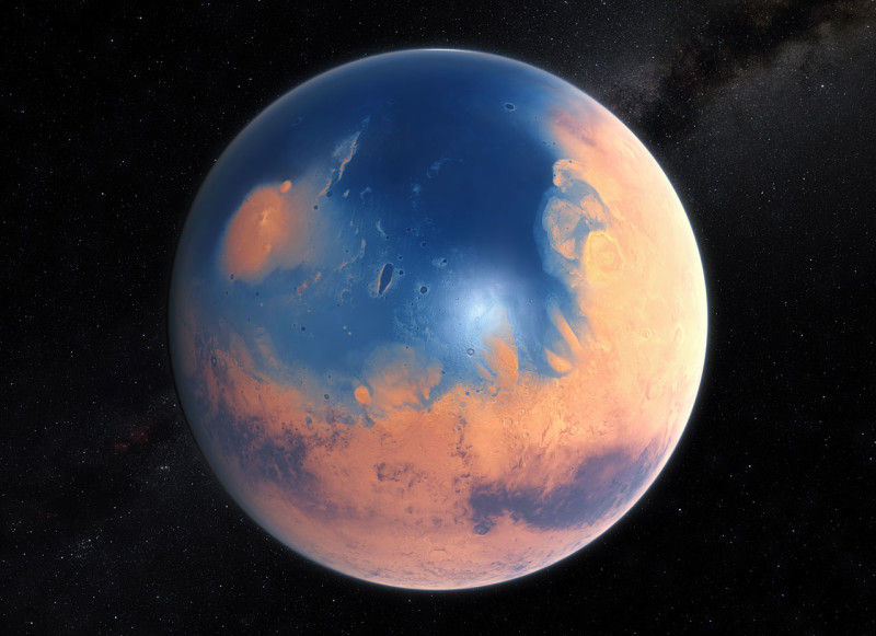 Планета, лишившаяся океана жидкой воды