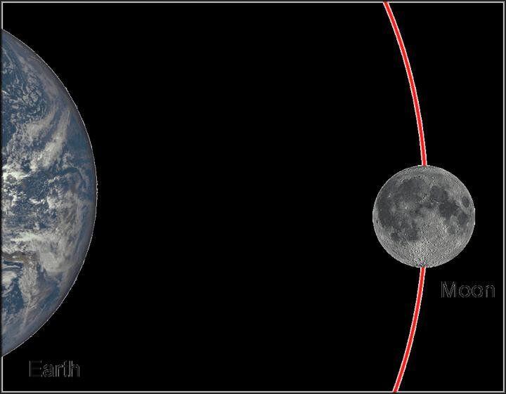 Земля спровоцировала трещины наЛуне