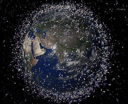 Кусок космического мусора войдет в атмосферу Земли над Индийским океаном
