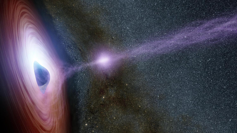Черная дыра разражается мощной вспышкой