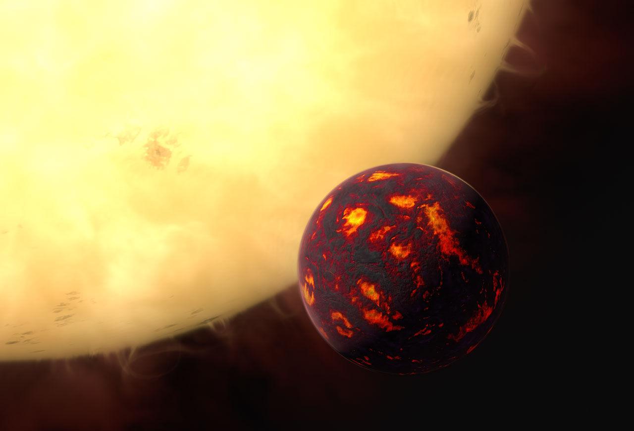 Первое обнаружение атмосферы на близлежащей суперземле