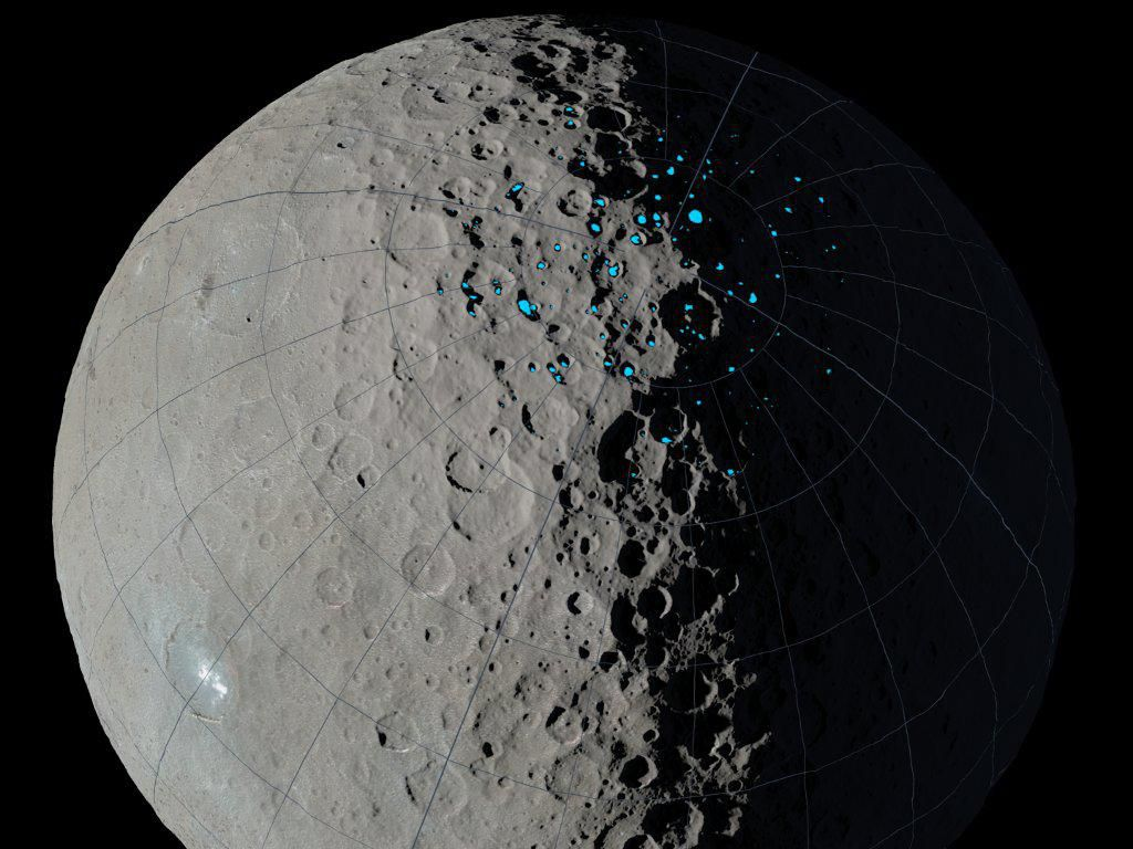 Зонд Dawn нашел наЦерере кратеры, где может накапливаться вода