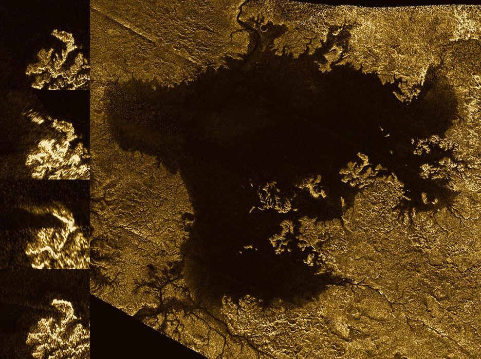 Космический аппарат Cassini нашел наТитане каньоны