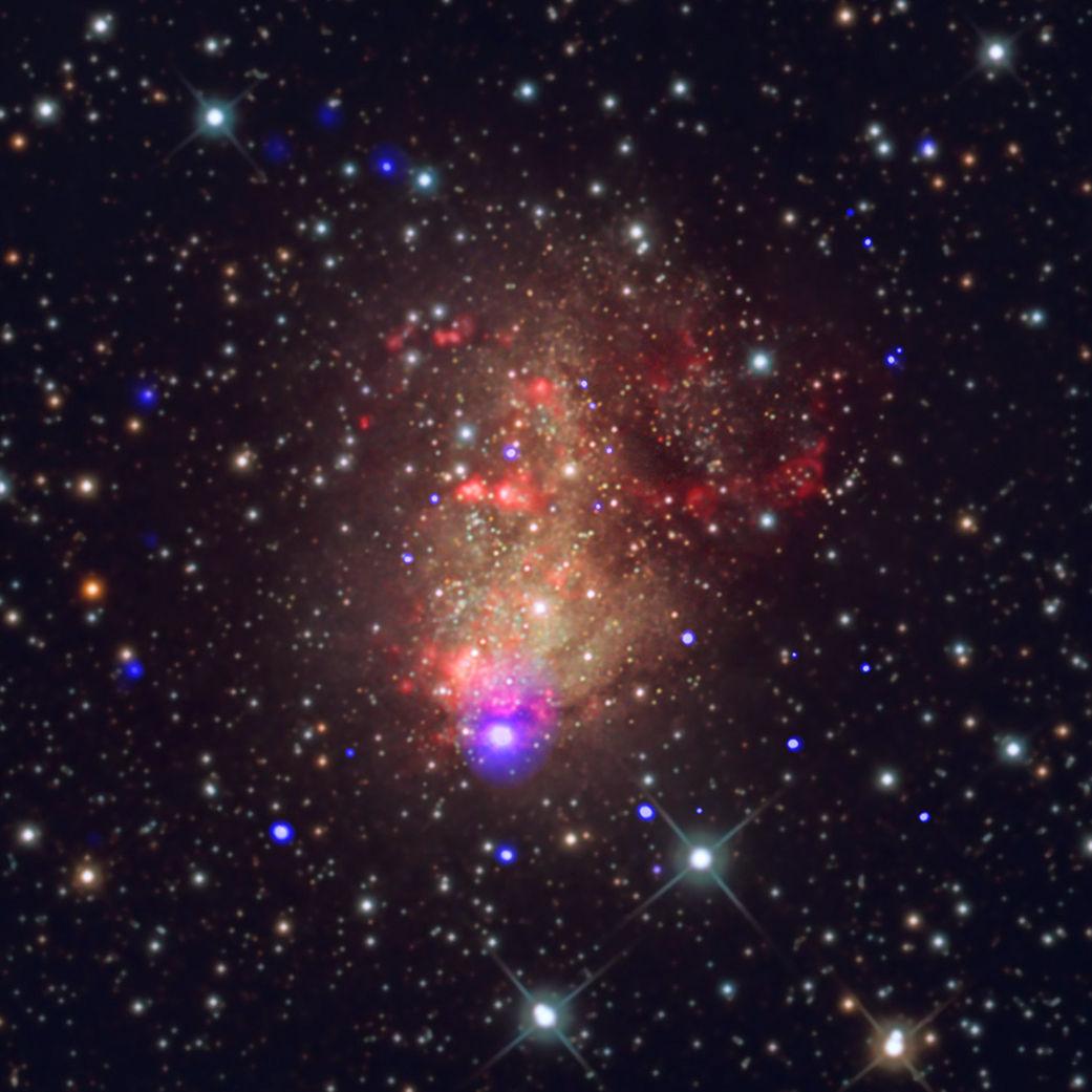 Снимок: Вспышка звездообразования, способная дать начало гравитационны