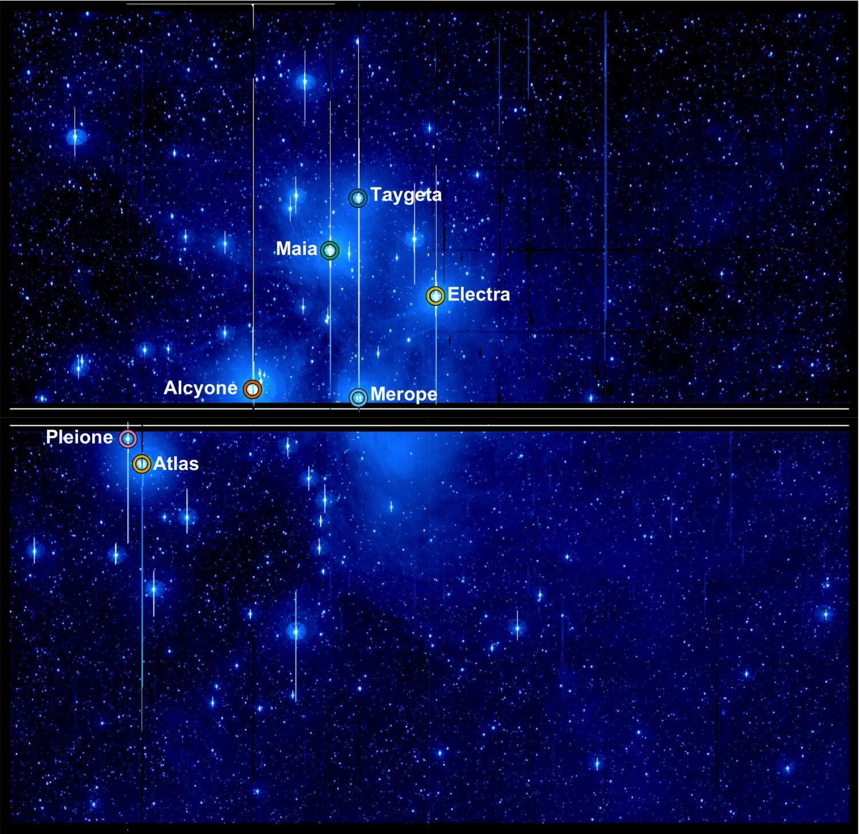 Спутник Kepler наблюдает переменные звезды всозвездии Плеяды