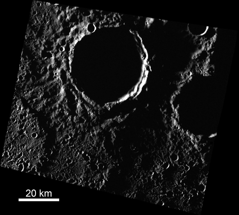 Астрономы отыскали  самые большие  залежи льда наМеркурии
