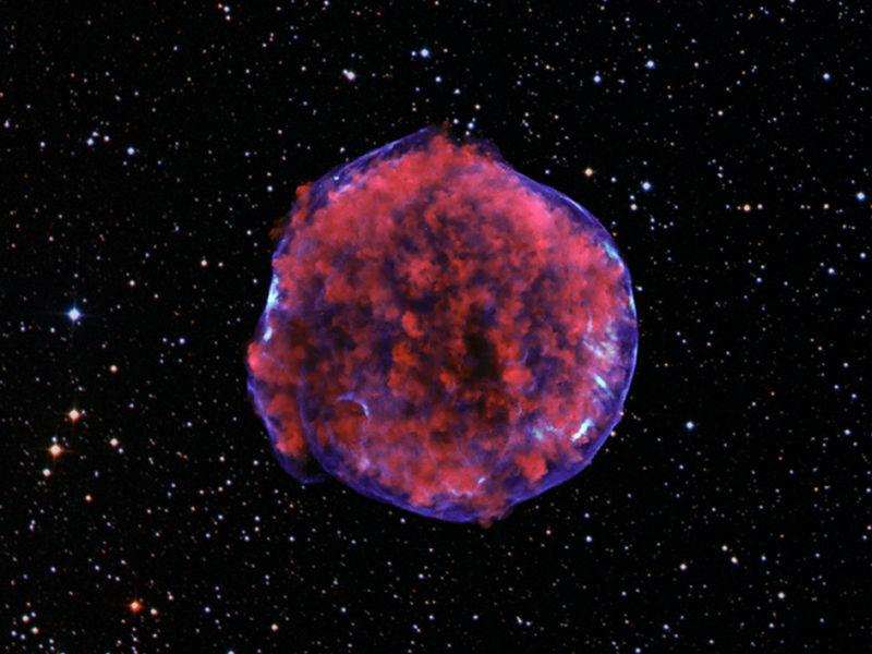 Ученые заглянули в прошлое сверхновой звезды Тихо Браге