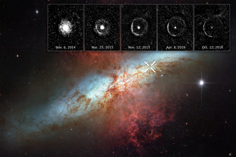 Ученые «поймали» взрыв ближней кСолнцу сверхновой