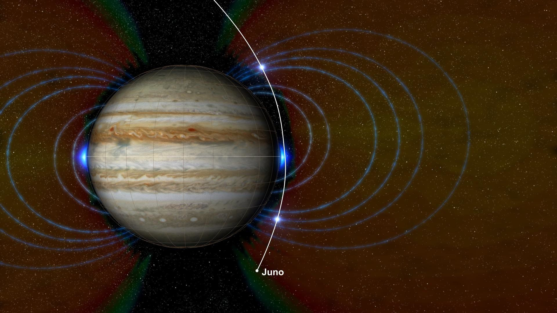 Зонд Juno измерил глубину огромного красного пятна наЮпитере