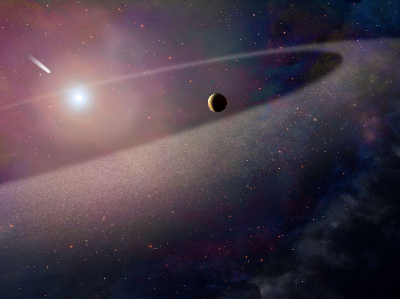 Hubble зафиксировал процесс поглощения колоссальной кометы белым карликом