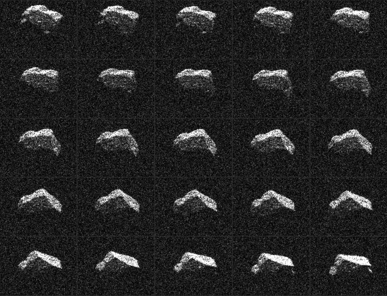 Ученые запечатлели угловатый астероид, пролетевший мимо Земли