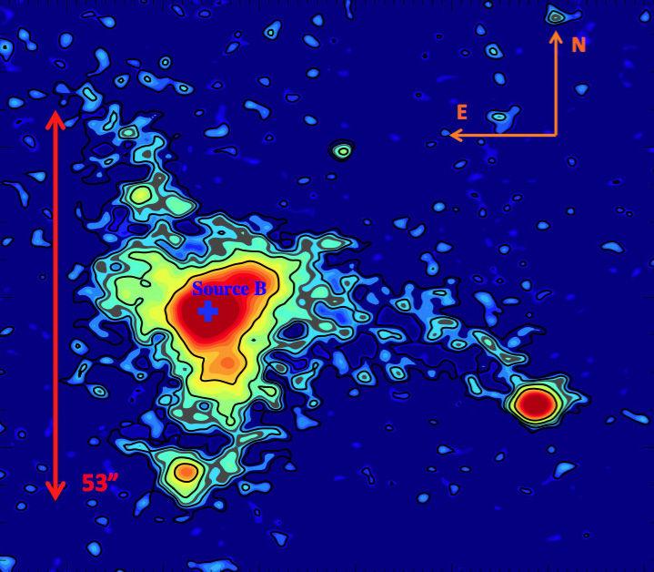 Учёные обнаружили вгалактике неизвестную светящуюся туманность