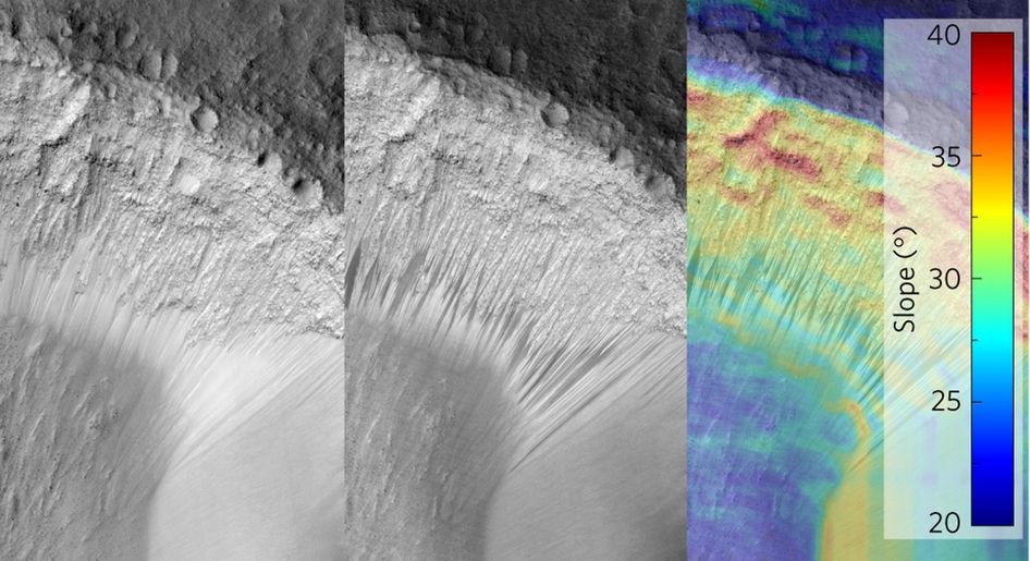 Соленая вода наМарсе может быть всего лишь оптической иллюзией— Ученые