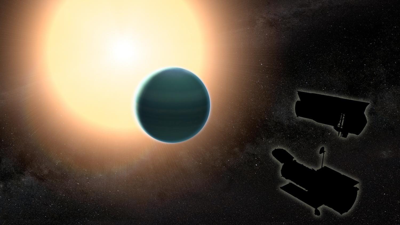 Ученые обнаружили атмосферу иследы воды надальней экзопланете