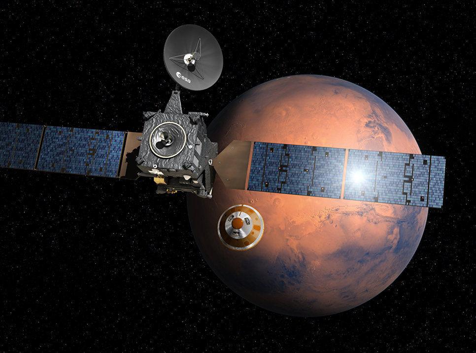ЕКА раскрыло причины падения «Скиапарелли» наМарс