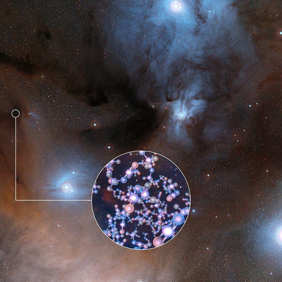 Внутри новорожденной звезды найдены органические соединения