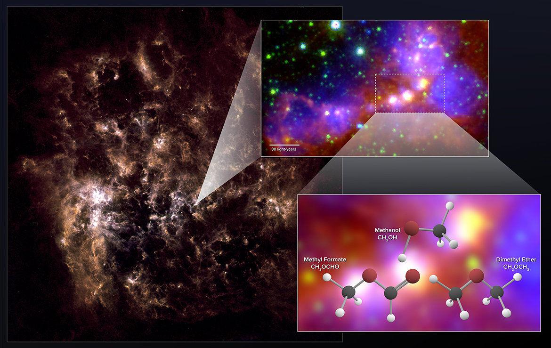 NASA обнаружили молекулы метанола вкосмосе